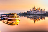 Budapest parliament at sunrise, Hungary - 96429677