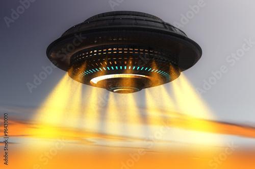 Naklejka Futuristic UFO ship