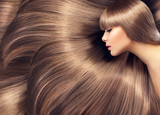 Fototapety Beautiful hair. Beauty woman with shiny long hair as background