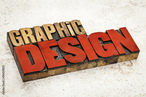 graphic design in wood type