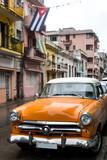 Fototapety Street scene on rainy day in Havana,Cuba