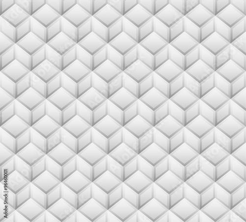 3d cubes seamless, repeatable pattern. Vector art. - 96460001
