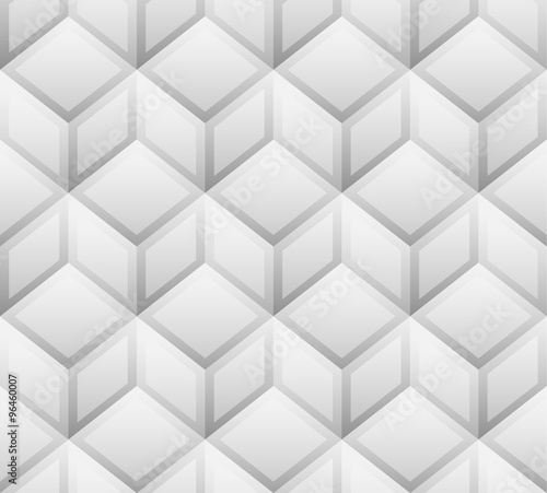 3d cubes seamless, repeatable pattern. Vector art. - 96460007