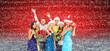 Obrazy na płótnie, fototapety, zdjęcia, fotoobrazy drukowane : Happy Christmas people collage.