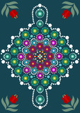 Dot painting meets mandalas