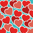 Obrazy na płótnie, fototapety, zdjęcia, fotoobrazy drukowane : Romantic colorful card design with pink hearts