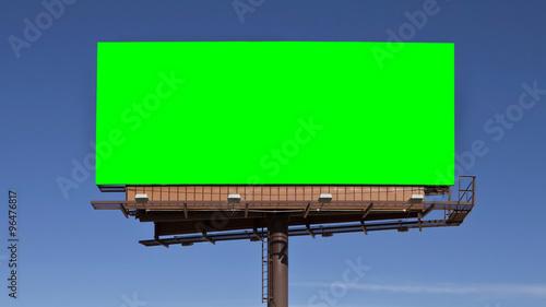 Chroma Key Green Billboard - 96476817