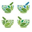 Herbal Mortar and pestle logo
