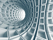 Abstract Architecture Tunnel With Light Background