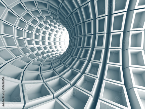 Fototapeta Abstract Architecture Tunnel With Light Background