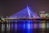 Seri Wawasan Bridge in Putrajaya at evening