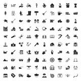 gardening 100  icons set for web
