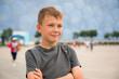 Boy in the Olympic Village in Beijing