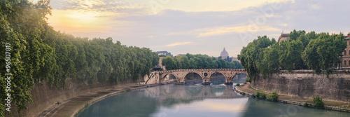 Fototapeta Ponte Sisto bridge in Rome