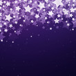 Vector Illustration of a Purple Christmas Background with Stars