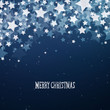 Vector Illustration of a Blue Christmas Background with Stars