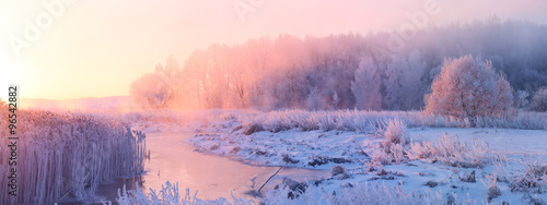 Fotobehang Zonsopgang Winter sunrise