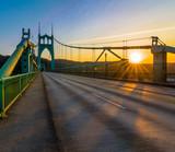 St. John's Bridge in Portland Oregon, USA - 96556202
