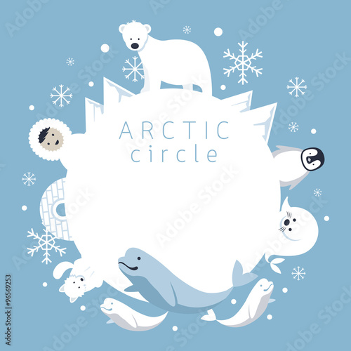 Arctic Circle Frame, Animals, People, Winter, Nature Travel and Wildlife