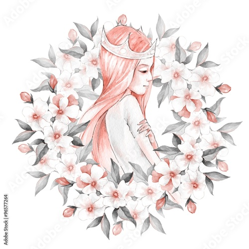 Princess and flowers 1 - 96577264