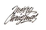 Modern brush calligraphy. Merry Christmas.