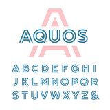 Linear font. Vector alphabet with latin letters. - 96601480