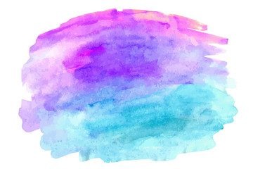 Abstract watercolor vector hand paint on white background