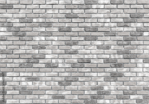 Fototapeta brick wall texture or background, gray