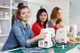 Fototapety Women in a sewing workshop