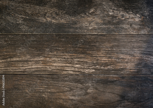 Brown wood textured background or table - 96635894