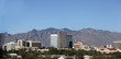 City of Tucson panorama with Santa Catalina mountain range in a background, Arizona second major city