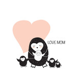 Mother day penguin card