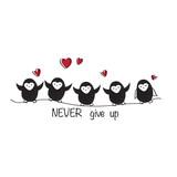 Cute penguins design