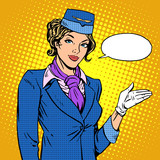 Stewardess airline invites you to Board