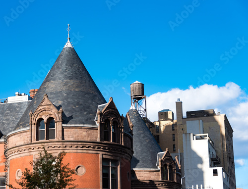 Ancient And Modern Architecture In New York City Stock