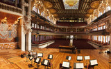 BARCELONA, CATALONIA - MARCH 9, 2013: Interior of Palace of Catalan Music in Barcelona, Catalonia