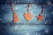 Obrazy na płótnie, fototapety, zdjęcia, fotoobrazy drukowane : sfondo natalizio con decorazioni