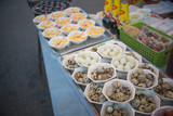 fried quails eggs shop, fair on urban of  Thailand such as Loy K