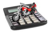 Fototapety Calculator and toy motorbike