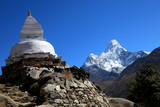 Buddhist Stupa along the trail to Everest base camp