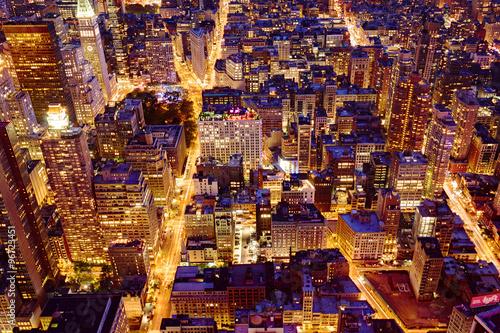 Fototapeta Manhattan Skyline bei Nacht 5