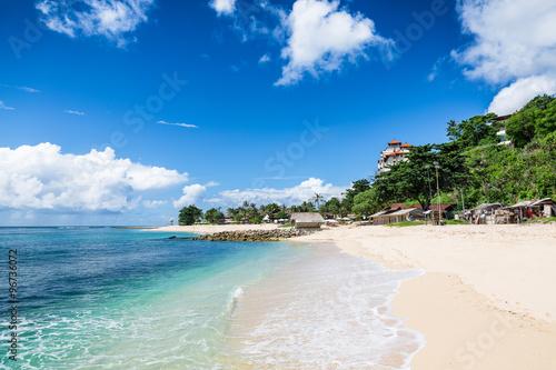 Fotobehang Bali Tropical beach with white sand in Bali