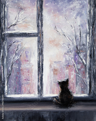 Cat and winter
