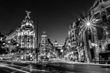 Gran Via in Madrid, Spain, Europe. - 96748035