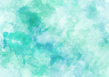 Fototapety Blue and Green Sea Colorful Watercolor Background.