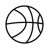 Fototapety Basketball line art icon for sports apps and websites