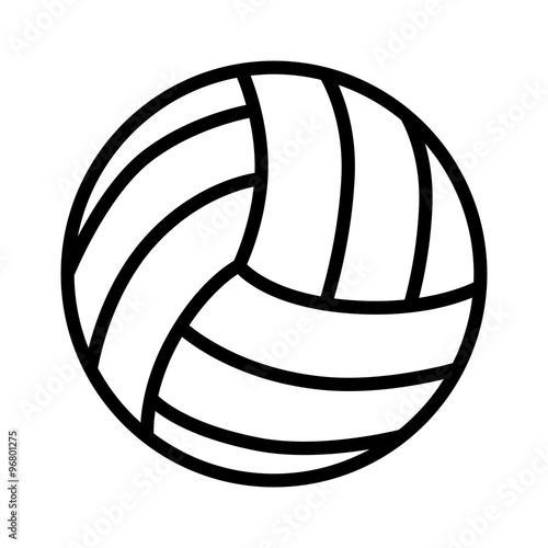 Fototapeta Volleyball ball line art icon for sports apps and websites