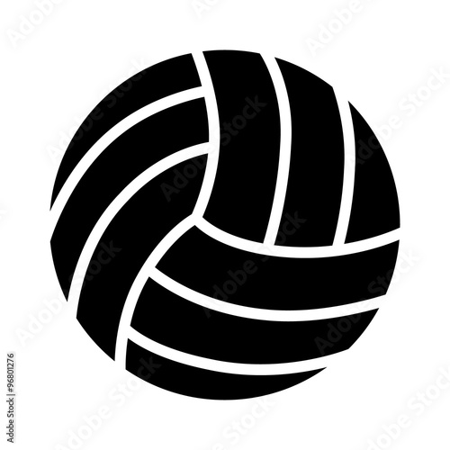 Fototapeta Volleyball ball flat icon for sports apps and websites