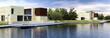Architektur am Wasser (panoramisch)