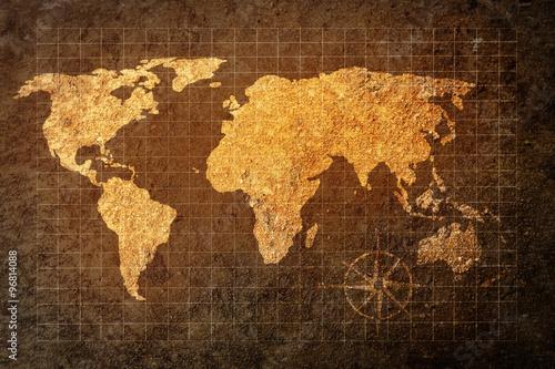 mapa-swiata-na-tle-grunge